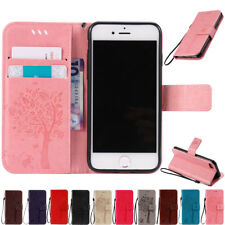 Card Wallet Leather Flip Stand Rubber Shockproof Case Cover For iPhone