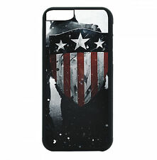 USA Shield Phone Case For iPhone 7 6S 6 PLUS 5 5S 4 4S Black TPU Rubbe