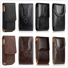 LEATHER VERTICAL CARRYING POUCH CASE COVER HOLSTER BELT CLIP FOR APPLE