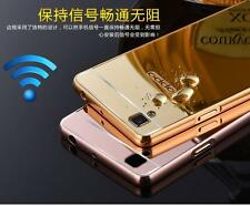 LUXURY METAL FRAME + ACRYLIC PC MIRROR BACK CASE COVER For Oppo F1