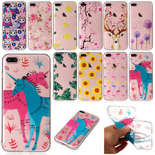 Cute Painted Case TPU Soft Ultra Slim Clear Rubber Gel Cover For iPhon