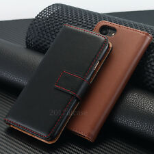 Luxury Genuine PU Leather Flip Wallet Card Case Cover For iPhone 6 6s
