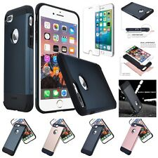 For Apple iPhone 7 Plus / 7 Heavy Duty Protection Case + Glass Screen