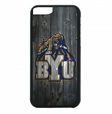 BYU Cougars Phone Case For iPhone 7 6S 6 PLUS 5 5S 4 4S Black TPU Rubb