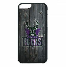 Milwaukee Bucks Case For iPhone 7 6S 6 PLUS 5 5S 4 4S Black TPU Rubber