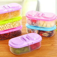 Kitchen Plastic Fresh Fruit Food Snacks Container Sauce Cover Case Storage Box