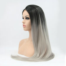 Cabello Humano Remy pelucas FRONTAL Lace Sintético wing- Fresco hecho a mano