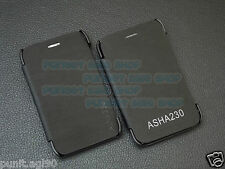 Leather Diary Folio Flip Flap Cover Case Back For Nokia Asha 230