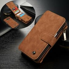 Leather Removable Wallet Flip Card Stand Case Cover For Samsung Galaxy