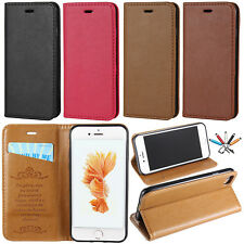 Magnetic Card Slot Leather Flip Case Stand Wallet Skin Cover For iPhon