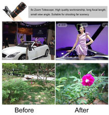 New 8X Zoom Telephoto Telescope Lens Phone Camera Clip For iPhone /Sam