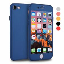 360 Full Body Protection Hard Slim Cover Tempered Glass Screen iPhone