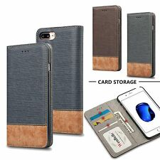 Luxury Magnetic Leather Flip Wallet Credit Card Slot Case For iPhone 7
