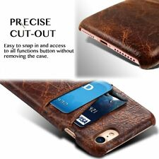 Luxury Slim Genuine Leather Wallet Card Slot Shockproof Cover Case for