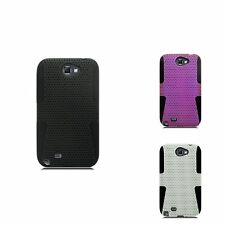 TPU Hard PC Candy Skin Rubber Mesh Case Cover For Samsung Galaxy Note
