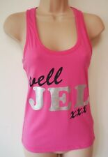 Womens Well Jel Vest Top Sizes 6-8 10-12 14-16 New Ladies Pink Cotton Racer Back