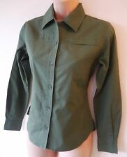 Womens Sherwood Forest Shirt Size 10 12 16 New Ladies Green Cotton Long Sleeve