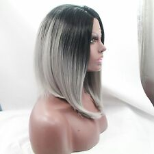 Cabello Humano Remy wigs-fresh hecho a mano Pelucas, frontal Lace sintético,