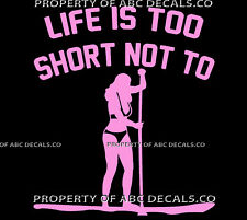 VRS LIFE 2 SHORT PADDLEBOARD Paddle Board SUP Stand Up GIRL CAR VINYL DECAL