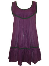 Womens Tunic Top Sizes 10 12 New Ladies Purple Green tm Cotton Broidery Anglaise