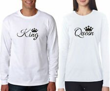 100% Cotton Full Sleeves King Queen Couple T-Shirt Hot Sexy Couples in Lover