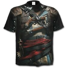 SPIRAL DIRECT ASSASSINS CREED IV BLACK FLAG Allover Licensed T-Shirt/Top/Tee