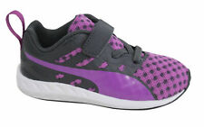 Puma Flare Lace Up With Strap Infants Purple Black Trainers 188595 06 D109