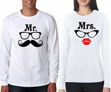 Full sleeve Couple T Shirt Mr. & Mrs For hot & sexy Couples crazy in love