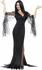 Ladies Morticia Costume Immortal Soul Vampire Witch Fancy Dress Halloween