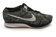 Mens Nike Flyknit Racer - 526628012 - Grey Black White Trainers