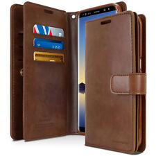 Double Flip book Leather Wallet Case Cover For Samsung Galaxy S8 / Not