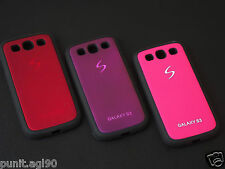 Dual Tone Soft Side Rubber Hard Back Cover Case For Samsung Galaxy S3 SIII i9300