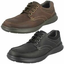 Mens Clarks Leather Lace Up Everyday Casual Shoes - Cotrell Edge