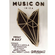 OFFICIAL Music On Marco Carola Amnesia Neverdogs Ibiza 8th July 2016 Poster