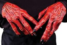 Devil Hands Red Claws Halloween Big Gloves Adult Fancy Dress Scary Creepy 1C