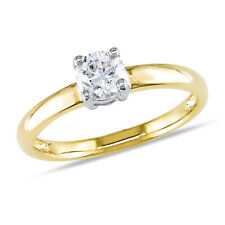 Amour 1/2 CT TW Diamond Solitaire Engagement Ring in 14k Yellow Gold