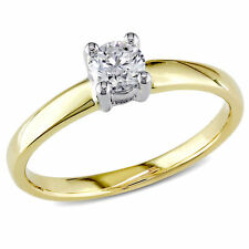 Amour 1/3 CT TW Diamond Solitaire Engagement Ring in 14k Yellow Gold