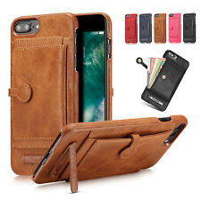 Leather Wallet Card Slot Holder Flip Stand Back Cover Case For iPhone