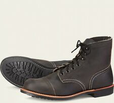 Red Wing  Mens Boots 8086 Iron Ranger Heritage Work Charcoal  Rough & Charcoal