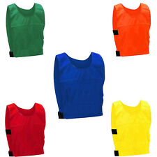 Sports Training Bibs Football Netball Vest Kids Adults PACK OF 1 5 7 10 15 20
