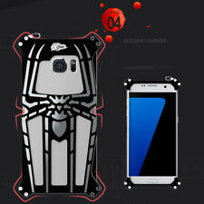 Black Aluminum Metal Armor Spider Man Protective Case Cover For iPhone