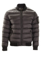 Men's Quilted Jacket Padded Puffer Bomber Funnel Crew Neck Jacket Coat S,M,L,XL