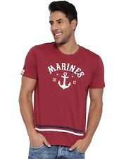 Cult Fiction men's Maroon Round Neck Comfort Fit Cotton T-Shirt (CFM06MRN997)