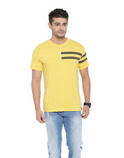 Cult Fiction men's Yellow Color Round Neck Cotton T-Shirt (CFM01MY783)