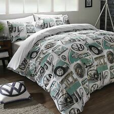 Volkswagen VW Classic Details Splitscreen Bay Camper Duvet Cover Set Cushion