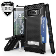 For Samsung Galaxy Note 8 Rugged Case Metal Kickstand Card Slot +Tempe