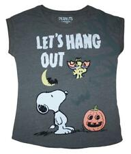 Snoopy & Woodstock  - Let's Hang Out - Ladies Halloween t shirts
