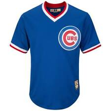 MAJESTIC CHICAGO CUBS COOPERSTOWN COOL BASE MLB MAGLIA Alternativo Blu