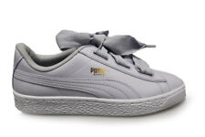 Womens Puma Basket Heart Patent Jr - 36481705 - Halogen Blue Trainers