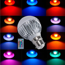 B22 RGB LED Globe Bulb 5W 16 Multicolor Changing Light Lamp With  Remote Control